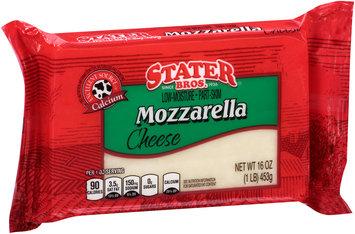 Stater Bros.® Low-Moisture Part-Skim Mozzarella Cheese 16 oz. Brick