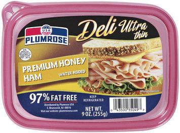 Plumrose Premium Ultra Thin 97% Fat Free Tub Honey Ham 9 Oz Tub