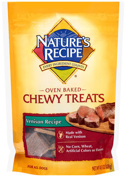 Nature's Recipe® Oven Baked Chewy Venison Recipe Dog Treats 4.5 oz. Bag