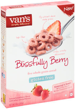 Van's Simply Delicious™ Blissfully Berry™ Five Whole Grain Cereal 10 oz. Box
