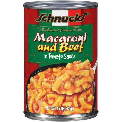 Schnucks Macaroni & Beef 15 oz Can