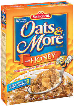 Springfield Oats & More W/Honey Cereal 16 Oz Box