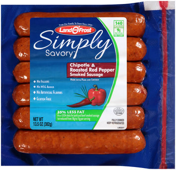 Land O'Frost® Simply Savory™ Chipotle & Roasted Red Pepper Smoked Sausage 13.5 Package