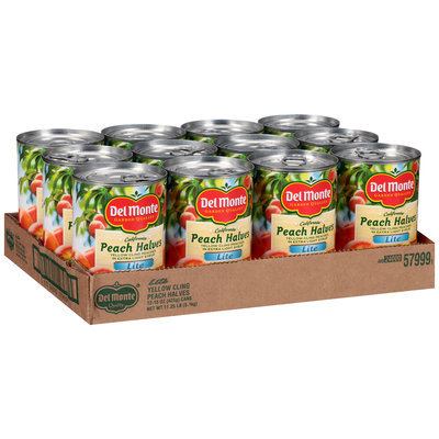 Del Monte® California Lite Yellow Cling Peach Halves in Extra Light Syrup