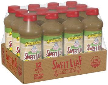 SWEET LEAF USDA-CERTIFIED ORGANIC ICED TEA, Mint and Honey Green Tea 16-ounce plastic bottles