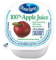 Ocean Spray 100% Apple Juice 4 Oz Cup
