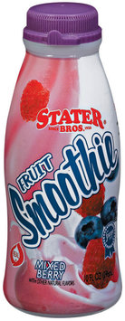 Stater Bros. Mixed Berry Fruit Smoothie 10 Fl Oz Plastic Bottle