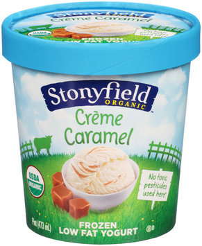 Stonyfield Organic™ Creme Caramel Low Fat Frozen Yogurt 1 pt. Cup