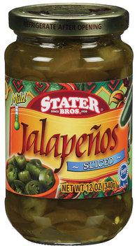 Stater Bros. Sliced & Mild Jalapenos 12 Oz Jar