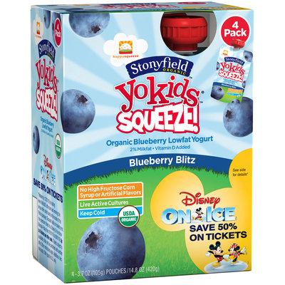 Stonyfield Organic™ YoKids® Squeeze!™ Blueberry Blitz Organic Blueberry Lowfat Yogurt 4-3.7 oz. Pouches