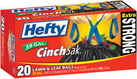 Hefty Extra Strong Lawn & Leaf Drawstring 39 Gal Lawn & Leaf Bags 20 CT BOX