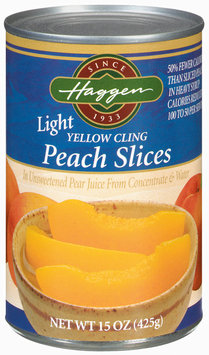Haggen Light Yellow Cling  Peach Slices 15 Oz Can