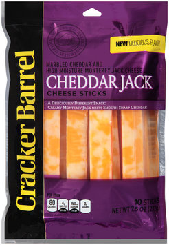 Cracker Barrel Cheddar Jack Cheese Sticks 10 ct Bag