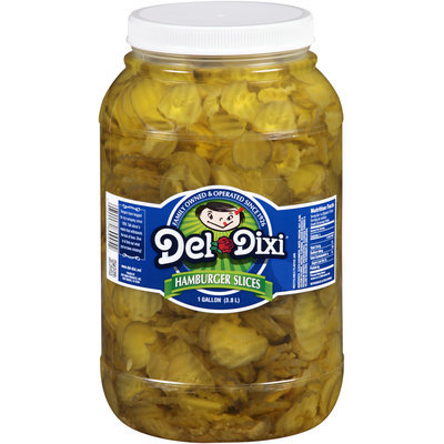 Del Dixi® Hamburger Slice Pickles 1 gal. Plastic Jar