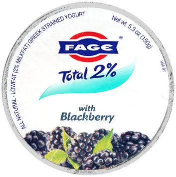 Fage® Total 2% Lowfat Greek Strained Yogurt with Blackberry 5.3 oz. Cup