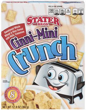 Stater Bros. Cinni-Mini Crunch Cereal 12.8 Oz Box