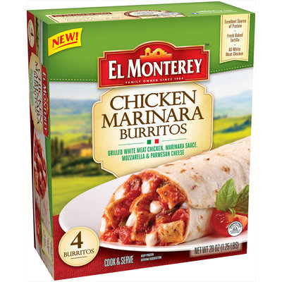 El Monterey™ Chicken Marinara Burritos 4 ct Box