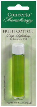 Concerto® Aromatherapy Fresh Cotton Refresher Oil 0.25 fl. oz. Carded Pack