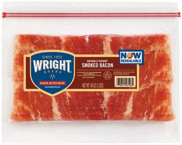 Wright Naturally Hickory Smoked Bacon 48 Oz Stack Pk
