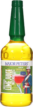 Major Peters'® Sweetened Lime Juice Alcohol Free Cocktail Mix 1L Bottle
