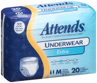AP0720 Attends® Underwear Extra Absorbency Medium, 20 count