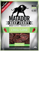 Matador® Chili Lime Beef Jerky $6.99 Prepriced 3 oz. Bag