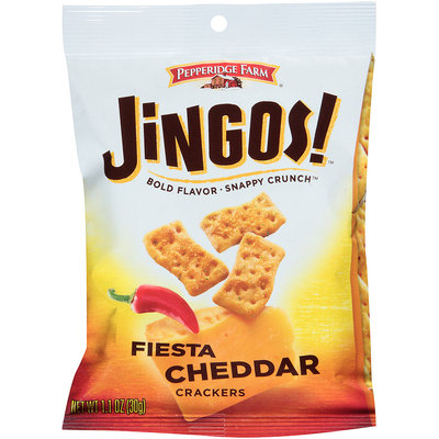 Pepperidge Farms® Jingos! Fiesta Cheddar Crackers 1.1 oz. Bag