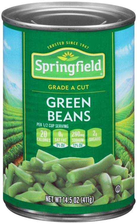 Springfield® Cut Green Beans 14.5 oz. Can
