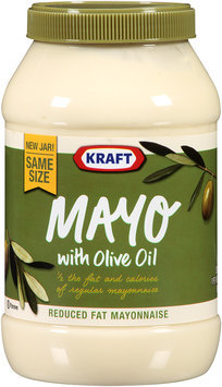 Kraft® Mayo Reduced Fat Mayonnaise with Olive Oil 30 fl. oz. Jar