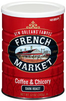 French Market® Dark Roast Ground Coffee & Chicory 12 oz. Canister