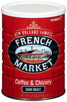 French Market® Dark Roast Ground Coffee & Chicory 12 oz. Canister