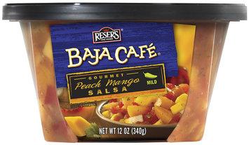 Reser's® Baja Cafe® Mild Gourmet Peach Mango Salsa 12 oz. Tub