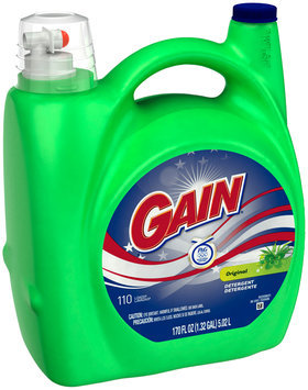 Gain Liquid Laundry Detergent, Original, 100 Loads 170 Fl Oz