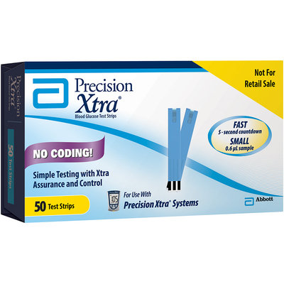 Precision Xtra® Blood Glucose Test Strips 50 ct. Box Not for Retail Sale