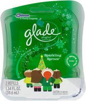 Glade® PlugIns® Sparkling Spruce Scented Oil Refills 2 ct Pack