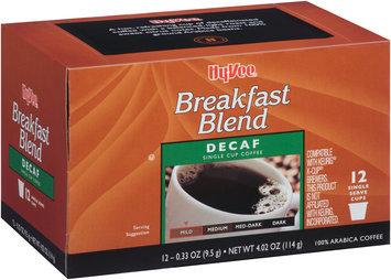 Hy-Vee® Breakfast Blend Decaf Single Serve Cup Coffee 12 ct Box