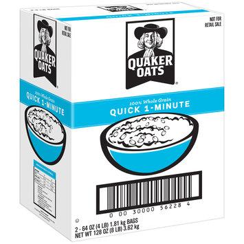 Quaker® 100% Whole Grain Quick 1-Minute Oats 2-64 oz. Bags