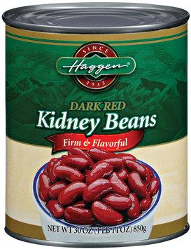 Haggen Kidney Dark Red Beans 30 Oz Can