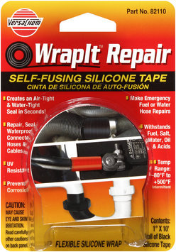 VersaChem® WrapIt™ Repair 82110 Black Self-Fusing Silicone Tape Carded Pack