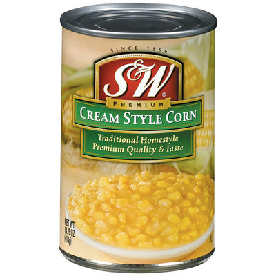 S&W® Cream Style Traditional Homestyle Corn 14.75 oz. Can