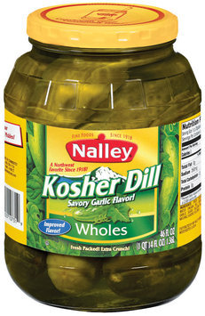 Nalley Kosher Dill Wholes Pickles 46 Oz Jar