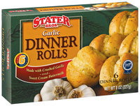 Stater Bros. Garlic 6 Ct Dinner Rolls 8 Oz Box