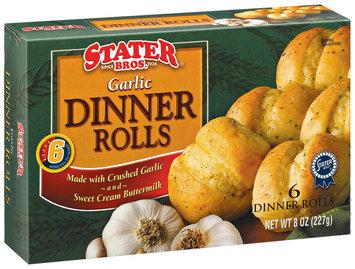 Stater Bros. Garlic 6 Ct Dinner Rolls 8 Oz Box