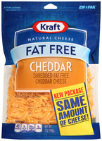 Kraft Shredded Fat Free Cheddar Cheese 7 oz. ZIP-PAK®