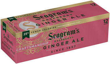 Seagram's Raspberry Ginger Ale 12-12 fl oz Cans