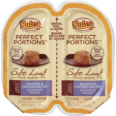 Nutro® Perfect Portions™ Adult Soft Loaf Salmon & Chicken Recipe Cat Food 2-1.3 oz. Tray