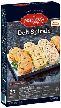 NANCY'S Chipotle Turkey Tomato Provolone Club Sandwich 60 ct Deli Spirals 27 OZ BOX