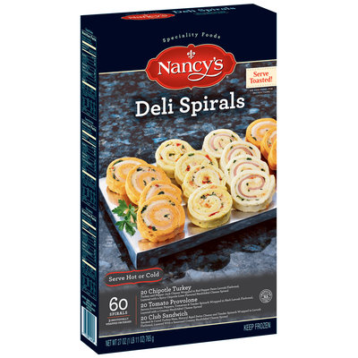 NANCY'S Chipotle Turkey Tomato Provolone Club Sandwich 60 ct Deli Spirals 27 OZ BOX