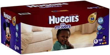 HUGGIES® Little Movers Size 4 Diapers 168 ct Box