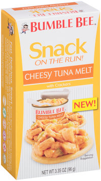 Bumble Bee® Snack on the Run! Cheesy Tuna Melt with Crackers 3.35 oz. Box